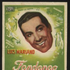 Cine: P-0278- FANDANGO (LUIS MARIANO - LUDMILLA TCHERINA - JEAN TISSIER). Lote 34943732