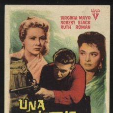 Cine: P-0287- UNA PISTOLA AL AMANECER (GREAT DAY IN THE MORNING) VIRIGINIA MAYO - ROBERT STACK. Lote 34944913