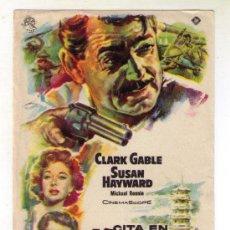 Cine: CITA EN HONG KONG - CLARK GABLE - 1955 - SIN PUBLICIDAD. Lote 34953204
