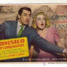 Cine: ARSENICO POR COMPASIÓN - CARY GRANT - 1944 - PUBLICIDAD EN IDEAL - ALICANTE. Lote 34957967