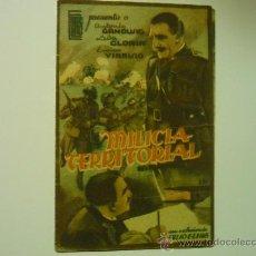 Cine: PROGRAMA DOBLE MILICIA TERRITORIAL -PUBLICIDAD. Lote 34975200