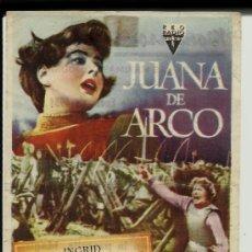 Cine: JUANA DE ARCO INGRID BERGMAN MONTERROSA REUS 1951. Lote 34987175