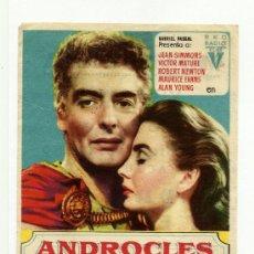 Cine: ANDROCLES Y EL LEON JEAN SIMONS VICTOR MATURE MONTERROSA REUS. Lote 34987209