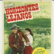 Cine: HORIZONTES LEJANOS JAMES ESTEWART TEATRE BARTRINA REUS 1955 CENTRE DE LECTURA. Lote 34987245