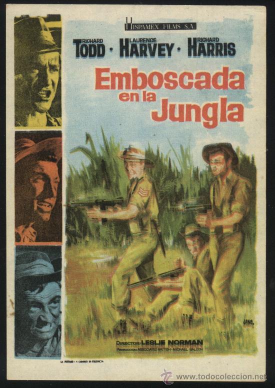 P-0337- EMBOSCADA EN LA JUNGLA (THE LONG AND THE SHORT AND THE TALL) LAURENCE HARVEY (Cine - Folletos de Mano - Bélicas)