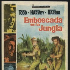 Cine: P-0337- EMBOSCADA EN LA JUNGLA (THE LONG AND THE SHORT AND THE TALL) LAURENCE HARVEY. Lote 34984055