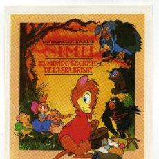 Cine: NIMH, EL MUNDO SECRETO DE LA SRA. BRISBY. DIBUJOS ANIMADOS.. Lote 174380119