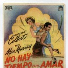 Cine: NO HAY TIEMPO PARA AMAR, CON CLAUDETTE COLBERT. . Lote 34999918