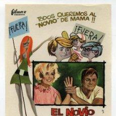 Foglietti di film di film antichi di cinema: EL NOVIO DE MAMÁ, CON DORIS DAY.. Lote 114656998