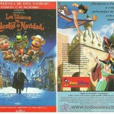 Cine: LOS TELEÑECOS EN CUENTOS DE NAVIDAD. PROGRAMA DE MANO. 1992.. Lote 35142409