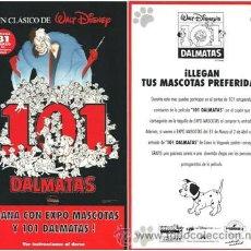 Cine: 101 DÁLMATAS. PROGRAMA DE MANO. 1996.. Lote 35142736