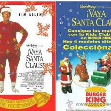 Cine: ¡VAYA SANTA CLAUS! PROGRAMA DE MANO. 1994. Lote 35142987