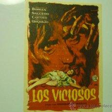 Cine: PROGRAMA LOS VICIOSOS .-PUBLICIDAD. Lote 35147623