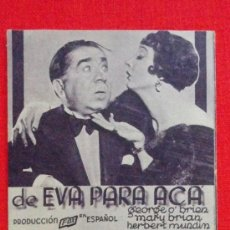 Cine: DE EVA PARA ACA, TARJETA FOX 1934, EXCTE ESTADO, GEORGE O'BRIEN MARY BRIAN, CON PUBLI FORTUNY REUS. Lote 35191737
