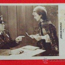 Cine: DELICIOSA, TARJETA AÑOS 30, CHARLES FARRELL JANET GAYNOR, SIN PUBLICIDAD. Lote 35192065