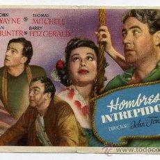 Cine: HOMBRES INTRÉPIDOS, CON JOHN WAYNE.. Lote 35197113