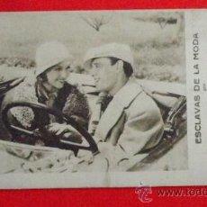 Cine: ESCLAVAS DE LA MODA, TARJETA FOX 1931, EXCTE ESTADO, CARMEN LARRABEITI JULIO PENA, PUBLI IMPERIAL. Lote 35205104