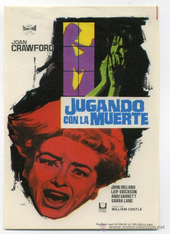 JUGANDO CON LA MUERTE, CON JOAN CRAWFORD. (Cine - Folletos de Mano - Terror)