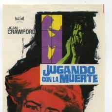 Flyers Publicitaires de films Anciens: JUGANDO CON LA MUERTE, CON JOAN CRAWFORD.. Lote 201994277