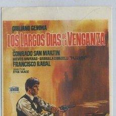 Cine: PROGRAMA DE CINE: LOS LARGOS DIAS DE LA VENGANZA PC-2007. Lote 35226295
