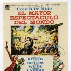 Cine: EL MAYOR ESPECTÁCULO DEL MUNDO, CON CHARLTON HESTON.. Lote 171714373