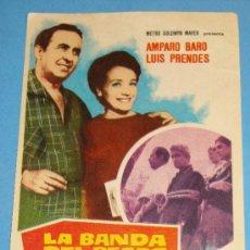Cine: FOLLETO DE MANO. LA BANDA DEL PECAS. AÑO 1967. AMPARO BARO Y LUIS PRENDES.. Lote 243973720