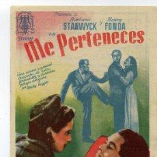 Cine: ME PERTENECES, CON HENRY FONDA.. Lote 35271167