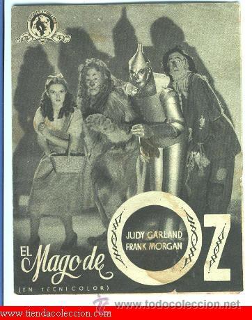 EL MAGO DE OZ (Cine - Folletos de Mano - Infantil)