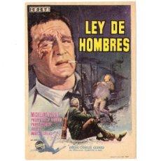Cine: LEY DE HOMBRES PROGRAMA ORIGINAL DE MANO.MICHELINE PRESLE -PHILIPPS LEROY BEAULIEU. Lote 53061196