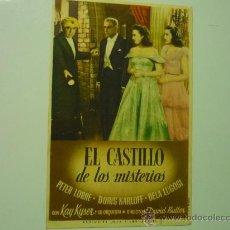 Cine: PROGRAMA EL CASTILLO DE LOS MISTERIOS .- BORIS KARLOFF. Lote 35380442