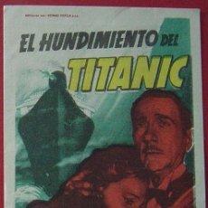 Cine: EL HUNDIMIENTO DEL TITANIC. Lote 35398265