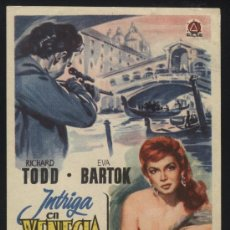 Cine: P-0508- INTRIGA EN VENECIA (VENETIAN BIRD) RICHARD TODD - EVA BARTOK - JOHN GREGSON. Lote 35418330