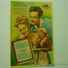 Cine: PROGRAMA MEMORIAS DE UNA DONCELLA .- PAULETTE GODDARD. Lote 35437547