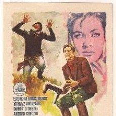 Cine: LA CAZA DEL HOMBRE PROGRAMA SENCILLO CIFESA ELEONORA ROSSI DRAGO NO ESTRENADA. Lote 35434037