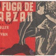 Cine: LA FUGA DE TARZAN PROGRAMA DOBLE MGM JOHNNY WEISSMULLER MAUREEN O'SULLIVAN. Lote 35434950