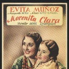 Cine: P-0516- MORENITA CLARA (EVITA MUÑOZ - MARGARITA MORA - ARTURO SOTO RANGEL). Lote 35459212