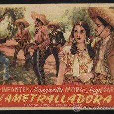 Cine: P-0521- EL AMETRALLADORA (PEDRO INFANTE - MARGARITA MORA - ÁNGEL GARASA - VÍCTOR MANUEL MENDOZA). Lote 35461984