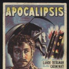 Cine: P-0551- APOCALIPSIS (L´APOCALISSE) BENGALA FILMS) TULLIO CARMINATI - MASSIMO SERATO. Lote 23735529