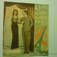 Cine: PROGRAMA DOBLE LA SENSACION DE PARIS.- DOUGLAS FAIRBANKS. Lote 35576227