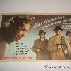 Cine: LAS TINIEBLAS QUEDARON ATRAS PROGRAMA DE MANO. Lote 35624329