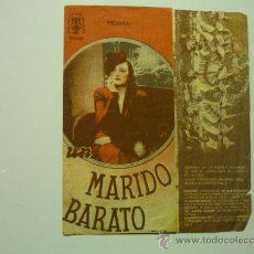 Cine: PROGRAMA DOBLE UN MARIDO BARATO.-PUBLICIDAD. Lote 35661721