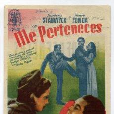 Cine: ME PERTENECES, CON HENRY FONDA.. Lote 35736832