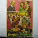 Cine: PROGRAMA TANGO EN BROADWAY .- CARLOS GARDEL. Lote 35759995
