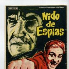 Cine: NIDO DE ESPIAS, CON ROGER HANIN.. Lote 35777322