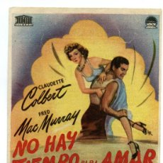 Cine: NO HAY TIEMPO PARA AMAR, CON CLAUDETTE COLBERT.. Lote 35779050