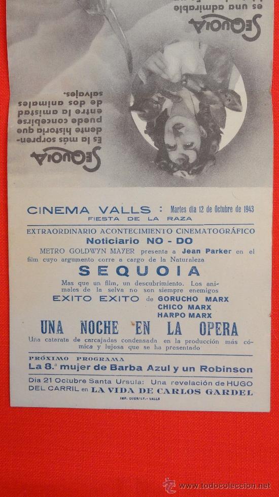 Cine: SEQUOIA, DOBLE MGM, JEAN PARKER, , CON PUBLICIDAD CINEMA VALLS - Foto 4 - 35841114