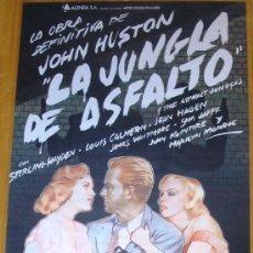 Cine: POSTER ORIGINAL ESPAÑOL - LA JUNGLA DE ASFALTO - JOHN HUSTON - STERLING HAYDEN - MARILYN MONROE. Lote 35868410