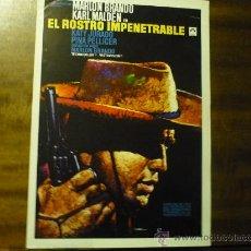 Cine: GUIA EL ROSTRO IMPENETRABLE.-MARLON BRANDO.- KATY JURADO. Lote 35935048