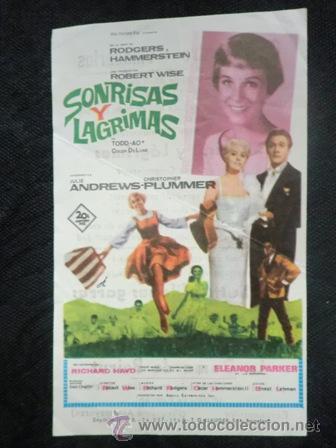 FOLLETO DE MANO CINE. SONRISAS Y LAGRIMAS. JULIE ANDREWS. 1965 (Cine - Folletos de Mano - Musicales)