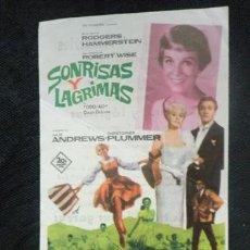Cine: FOLLETO DE MANO CINE. SONRISAS Y LAGRIMAS. JULIE ANDREWS. 1965. Lote 35937115